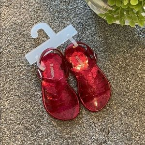 Gymboree size 4 baby brand new jelly sandals